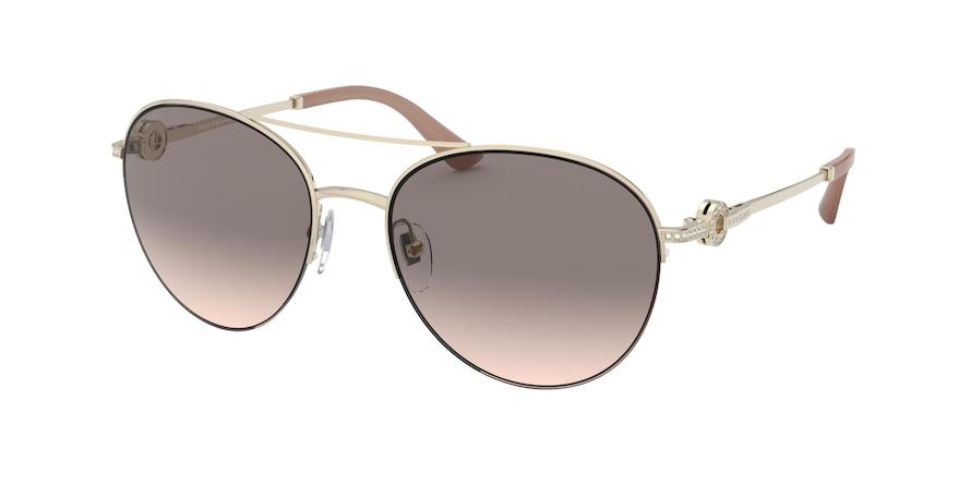 Bvlgari BV6132B Pale Gold Lentes Pink Gradient Grey