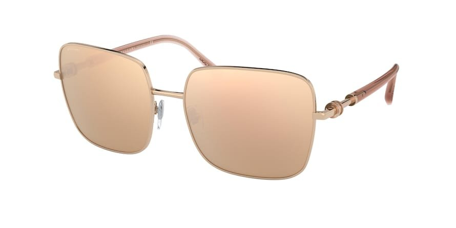 Bvlgari BV6134 Pink Gold Lentes Clear Mirror Real Rose Gold