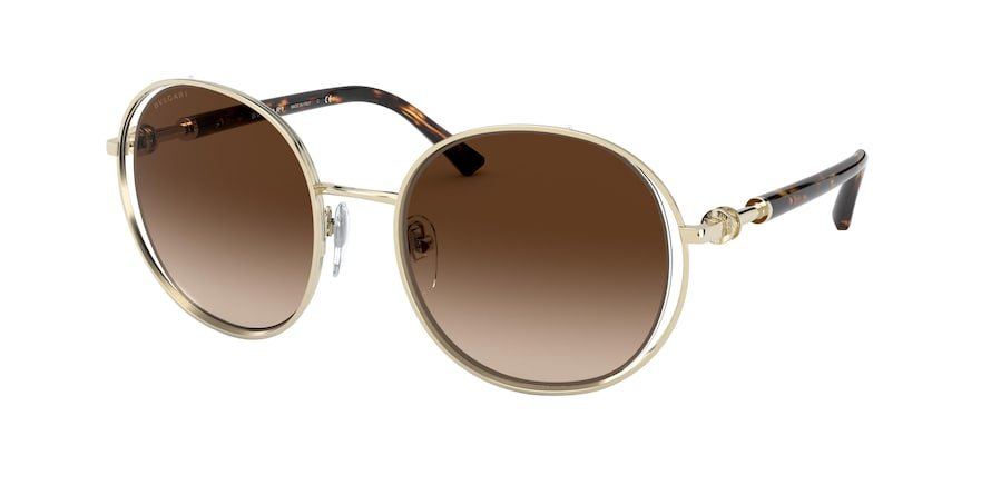 Bvlgari BV6135 Pale Gold Lentes Brown Gradient