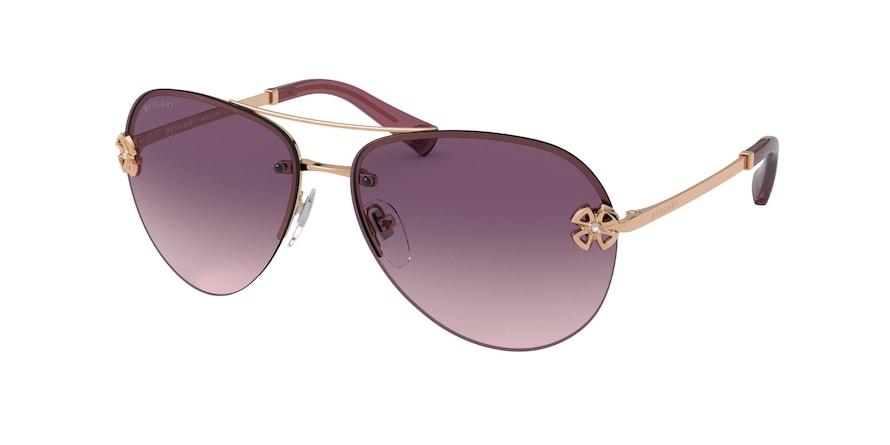 Bvlgari BV6137B Pink Gold Lentes Pink Grad Violet