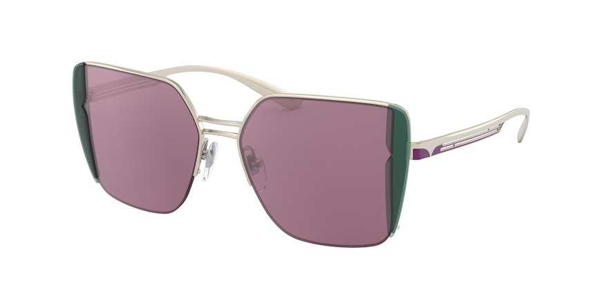 Bvlgari BV6141 Pink Gold Lentes Violet Internal Mirror Silver