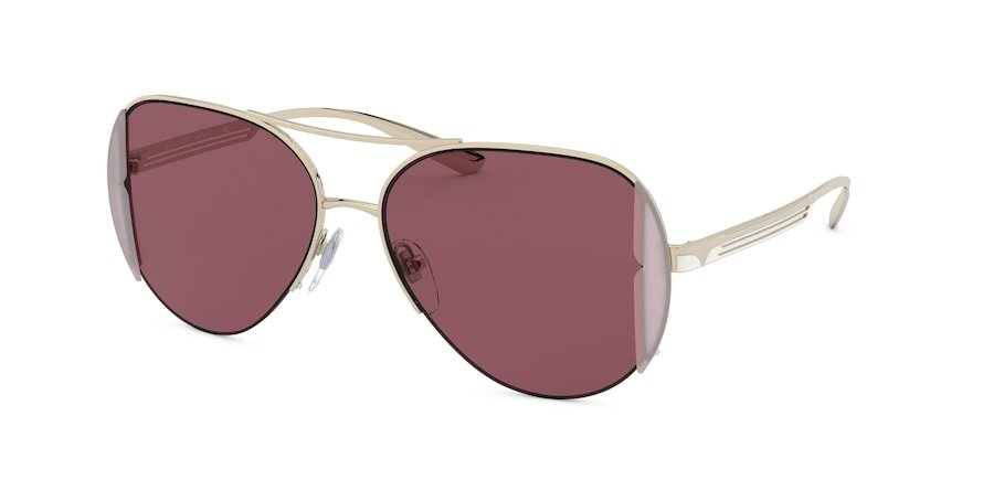 Bvlgari BV6142 Pink Gold Lentes Dark Violet Av