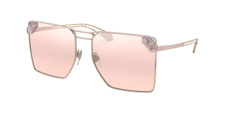 Bvlgari BV6147 Pink Gold/Gradient Pink Lentes Light Pink Mirror Grad Silver