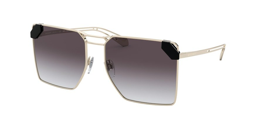 Bvlgari BV6147 Pale Gold Lentes Grey Gradient