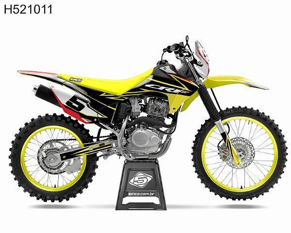 KIT GRÁFICO CRF 230 F 2015 A  2020 - 5INCO MX1 - H52111