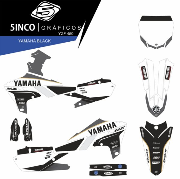 Kit Adesivo 3M Yamaha Black YZ 450F