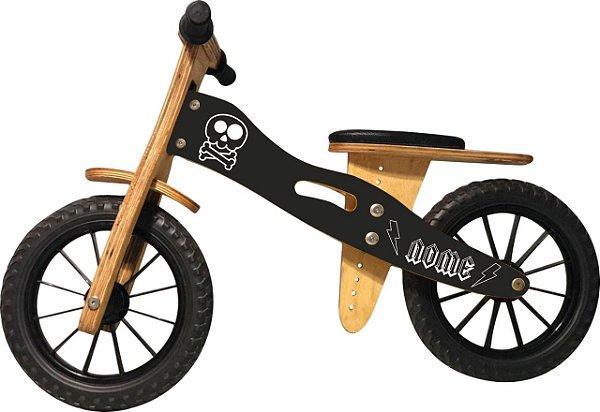 Bicicleta Infantil De Madeira Aro 12 - Skull