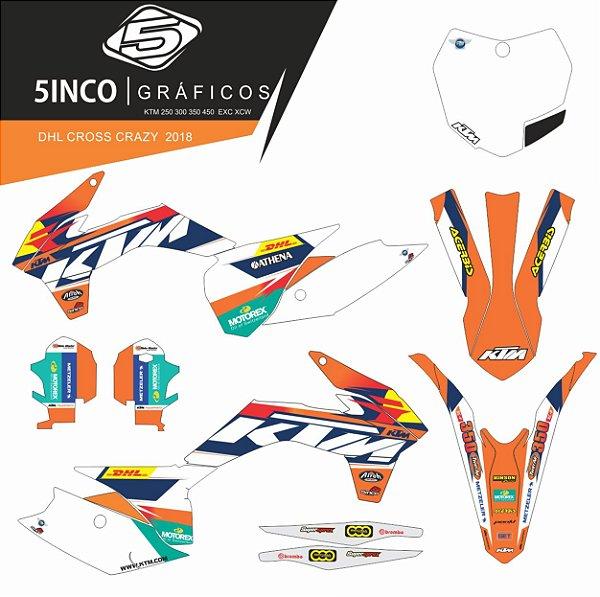 Kit adesivo 3M  Dhl Cross Crazy 2018 KTM 350 XCF 2013