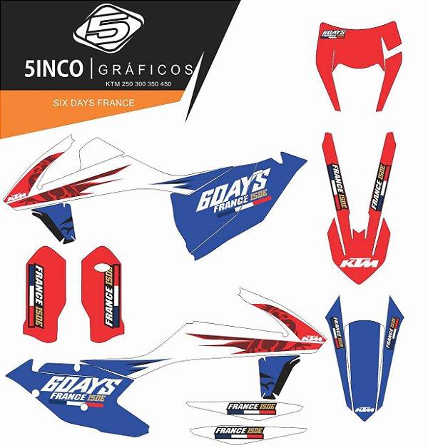 Kit Adesivo 3M  Days France KTM EXC 250 2017