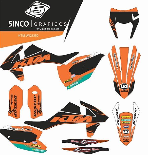 Kit adesivo 3M KTM Wicked KTM SXF 2017