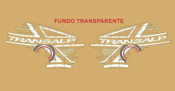 Kit Faixa Adesivo VINIL - Honda Transalp Xl 700v 2011 - Branco