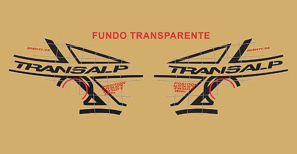 Kit Faixa Adesivo VINIL - Honda Transalp Xl 700v 2011 - Preto