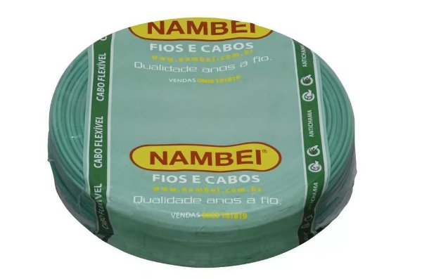 CABO FLEX 750V 1,50MM NAMBEI VERDE 1132900050