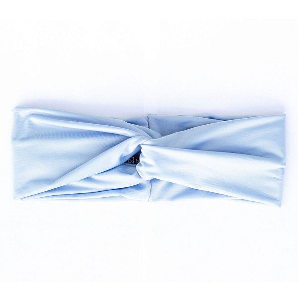 Turbante Faixa Microfibra Azul Bebe