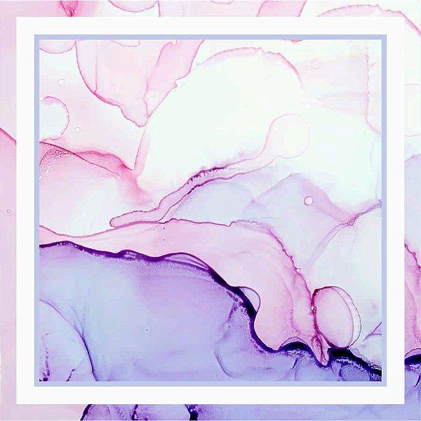 Lenço Estampa Aquarela Rosé