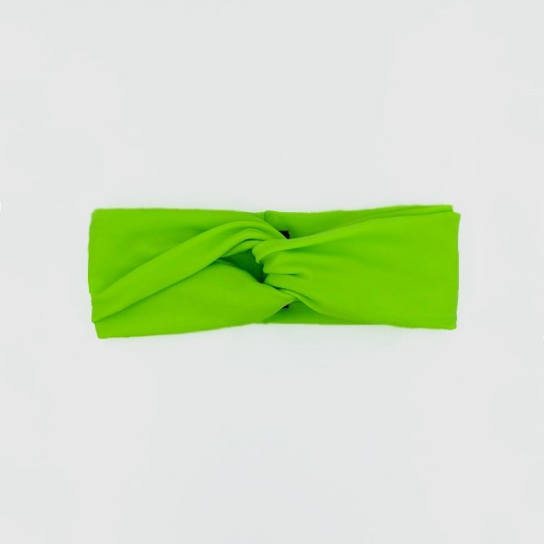Turbante Faixa Microfibra Verde Neon