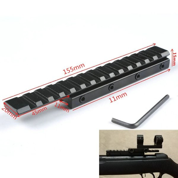 Trilho Picatinny 11mm para 20mm