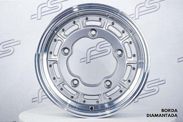 Roda Superleggera Aro 15 Prata Com Borda Diamantada para Estepe / 5 Furos (5x205)