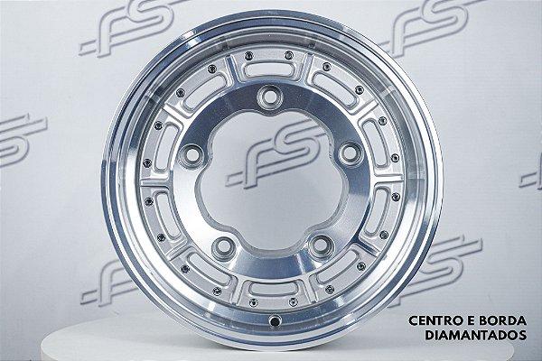 Roda Superleggera Aro 15 Prata Diamantada para Estepe / 5 Furos (5x205)