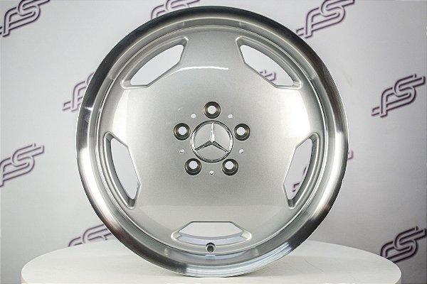 Jogo De Rodas Mercedes AMG Monobloco Prata 5x112 - 17x8