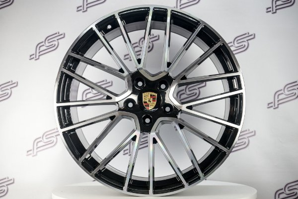 Jogo De Rodas Porsche Cayenne Turbo Preto Diamantado 5x130 - 22x10 e 22x11
