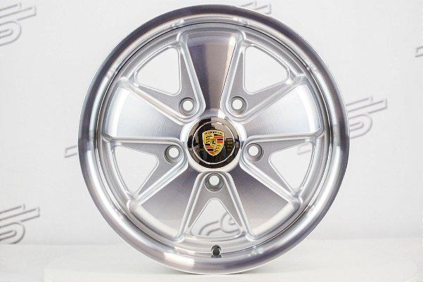 Roda 911 Fuchs Prata Diamantada Aro 15 Tala 4,5 / 5 Furos (5x130)