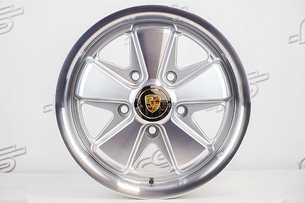 Roda 911 Fuchs Prata Diamantada Aro 15 Tala 6,5 / 5 Furos (5x130)