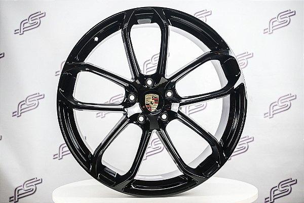 Jogo De Rodas Porsche Cayenne Gts Grafite 5x130 - 22x9,5  e 22x11