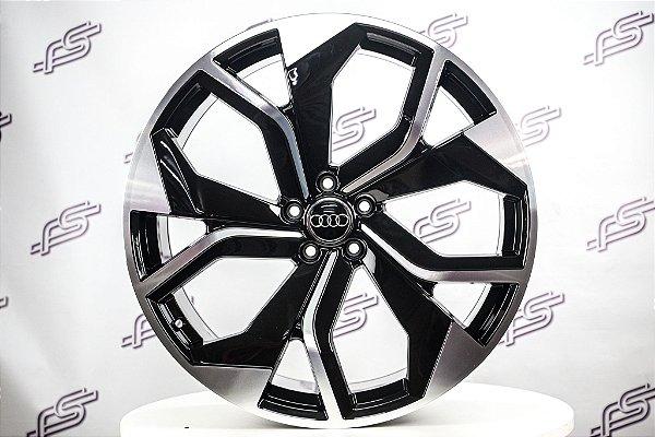 Jogo De Rodas Audi Rs Q8 Preto Diamantado 5x112 - 22x9,5