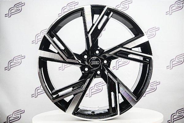 Jogo De Rodas Audi Rs6 Preto Diamantado 5x112 - 21x9,5