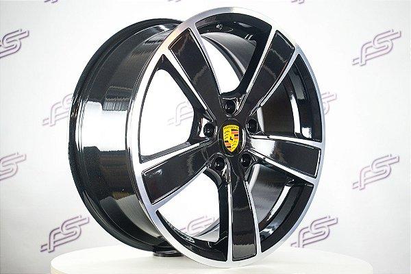 Jogo De Rodas Porsche Boxster Gts Preto Diamantado 5x130 - 20x8,5 e 20x10,5