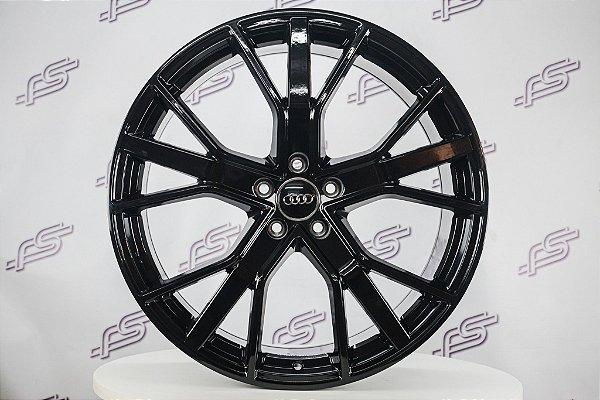 Jogo De Rodas Audi Q8 Preto Brilhante 5x112 - 21x9,5