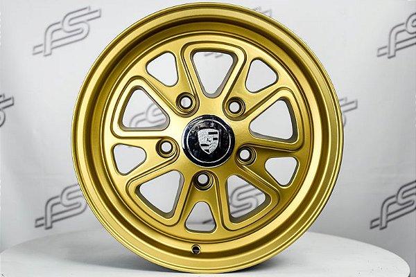 Roda 911 Fuchs II Dourado Aro 15 / 5 Furos (Kit com 4 Rodas)