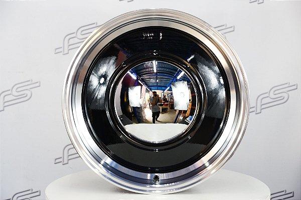 Roda Smoothie Preta com Borda Diamantada Aro 17 / 5 e 6 Furos