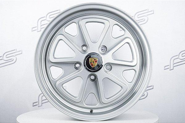 Roda 911 Fuchs II Prata Fosco Aro 17 / 5 Furos