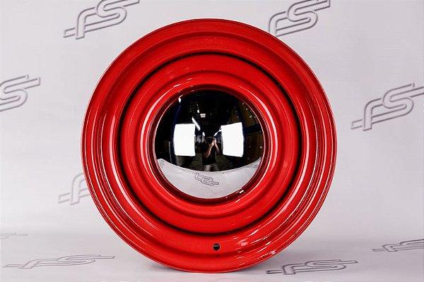 Jogo de rodas U.S Wheels Smoothie Vermelha Aro 15 / Talas 6 e 7 / 5 Furos