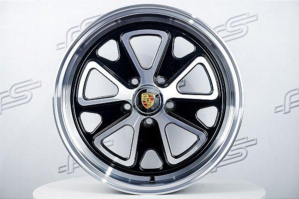 Roda 911 Fuchs II Preta Diamantada Aro 17 / 5 Furos
