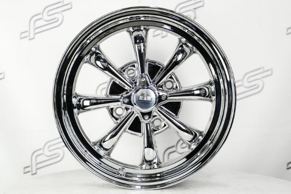 Roda Raw Classics 8 Spoke GT8 Chrome Aro 15 / 4 Furos