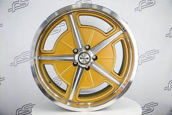 Roda RIDLER 605 Dourada Aro 20 / 5 Furos ( KIT COM 4 RODAS)