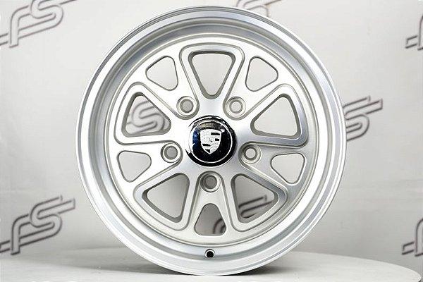 Roda 911 Fuchs II Prata Fosco Aro 15 / 5 Furos (Tala 5,5 DPF)