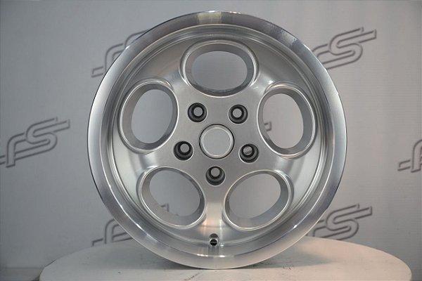 Roda Porsche Lemans Prata KR (M6) Aro 15 Semi Nova / 5 Furos