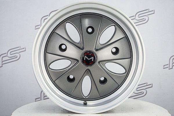 Roda Cigoletta Grafite Diamantado Fosco Aro 15 Tala 6 e 8 / 5 furos (KIT COM 4 RODAS)