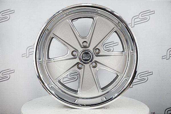 Jogo de rodas U.S Mags Roadster Grafite Jateada Borda Diamantada aro 17 / Tala 8 / Furação 5x114,3