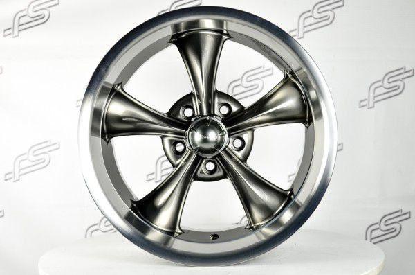 Jogo de rodas Ridler 695 Grafite Aros 17 e 18 / Talas 7 e 8  / Furação 5x120