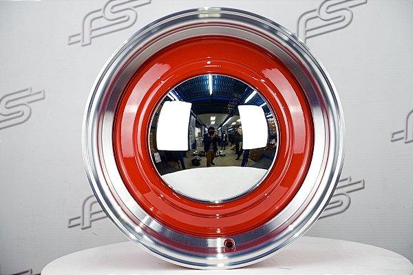 Roda Smoothie Fusca Aro 15 Vermelha Tala 6,5 / 4 Furos  (Traseira)