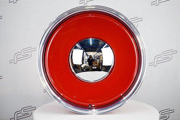 Roda Smoothie Vermelha Borda Diamantada Aro 18 / 5 e 6 furos