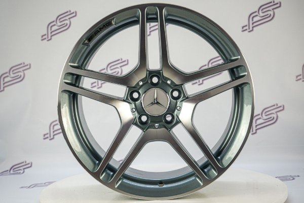 Jogo De Rodas Mercedes AMG C-63 Grafite Diamantada 5x112 -18x8,5