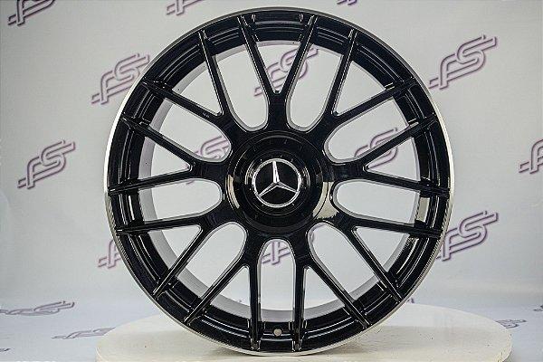 Jogo De Rodas Mercedes C-63 2015 Cubo Rápido Preto 5x114 -19x8,5