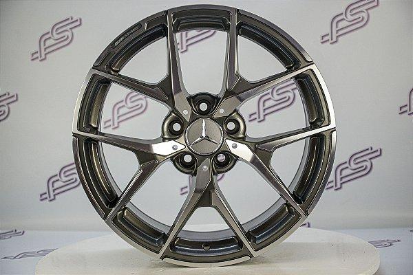Jogo De Rodas Mercedes CLA 45 2018 Grafite Diamantada 5x112 - 18x8 Offset 45