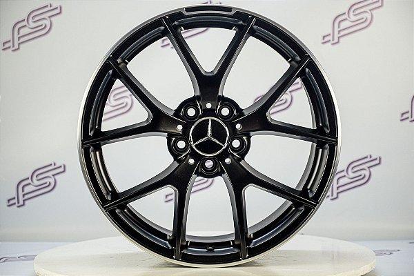 Jogo De Rodas Mercedes GLA-45 2017 Preto Fosco 5x112 - 18x8